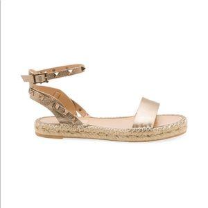 Double espadrille sandal